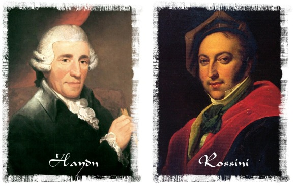 Joseph Haydn and Giacomo Rossini