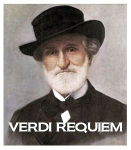 Image of Giuseppe Verdi with text Verdi Requiem